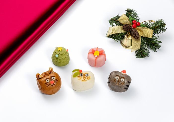 <ruby>招福<rt>しょうふく</rt>猫子<rt>ねこ</rt></ruby><br>まんじゅう<br>クリスマスver.